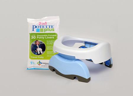 Potette Plus 2w1 nocnik turystyczny-nakładka na WC + 3 wkłady, biały