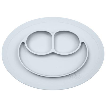 Silikonowy talerzyk z podkładką mały EZPZ 2 w 1 Mini Mat, Pastelowa szarość