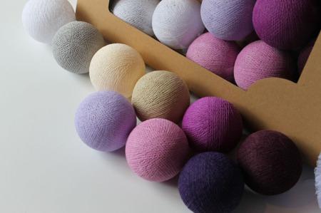 Świecące kule COTTON BALL zestaw Majestic Love 10 sztuk
