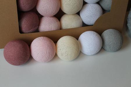 Świecące kule COTTON BALL zestaw Pink Dream 10 sztuk