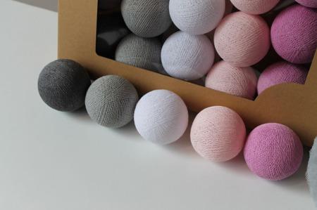 Świecące kule COTTON BALL zestaw Velvet Touch 50 sztuk