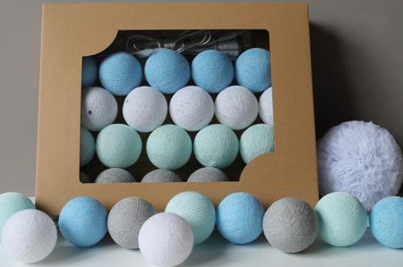 Świecące kule COTTON BALLS  2B Cute, 20 sztuk