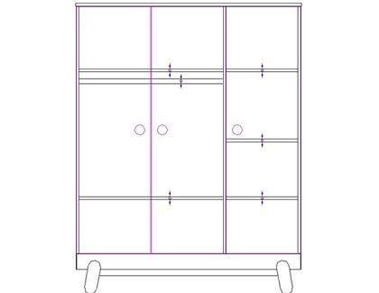 Szafa 3-drzwiowa Pinio Iga