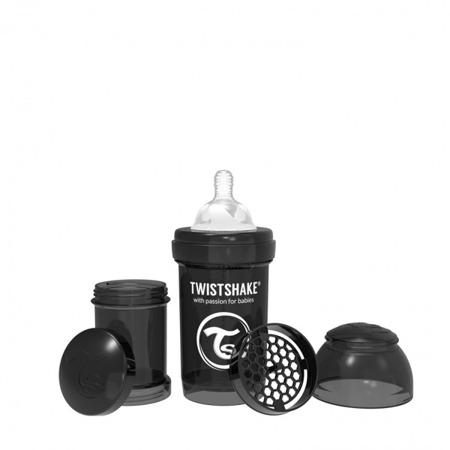 Twistshake Antykolkowa butelka do karmienia 180ml czarna