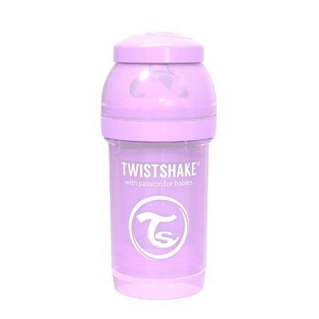 Twistshake Antykolkowa butelka do karmienia 180ml pastelowy fiolet