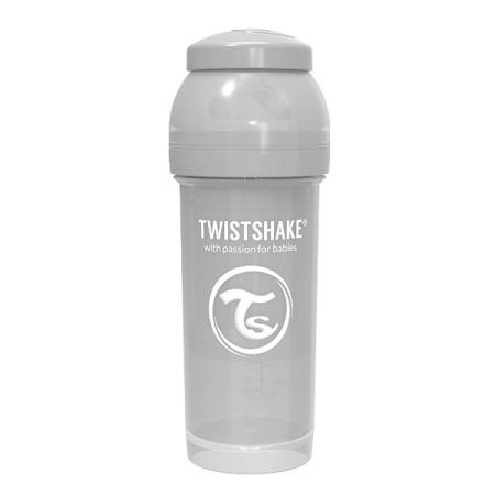 Twistshake Antykolkowa butelka do karmienia 260ml pastelowy szary