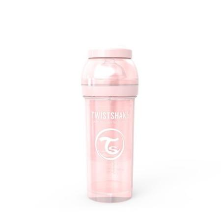 Twistshake Antykolkowa butelka do karmienia 260ml perłowy róż