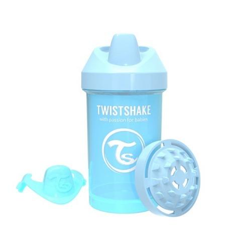 Twistshake Kubek niekapek z mikserem do owoców 300ml pastelowy niebieski
