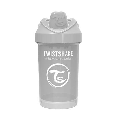 Twistshake Kubek niekapek z mikserem do owoców 300ml pastelowy szary