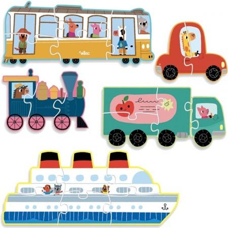 Vilac Puzzle ewolucyjne Transport 2-6 elementów