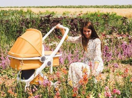 Wózek głeboki Greentom CARRYCOT eko biało-miętowy, 10 kolorów