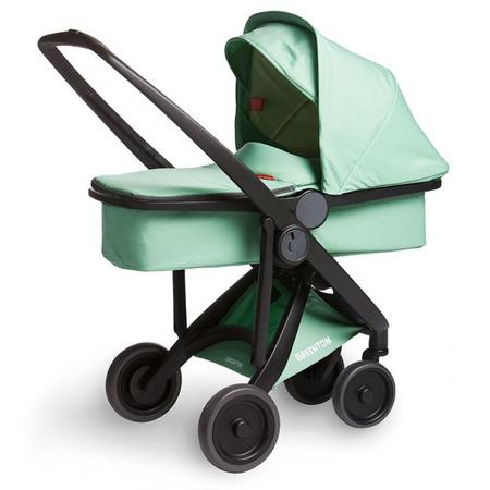Wózek głeboki Greentom CARRYCOT eko czarno-szary, 10 kolorów
