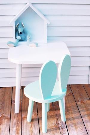 Zestaw krzesełko dziecięce królik + stoliczek