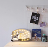 Lampka drewniana z funkcją ściemniania Little Lights Wilk Polski HandMade