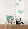 Miarka wzrostu Panda z miętowymi balonami, Dekornik